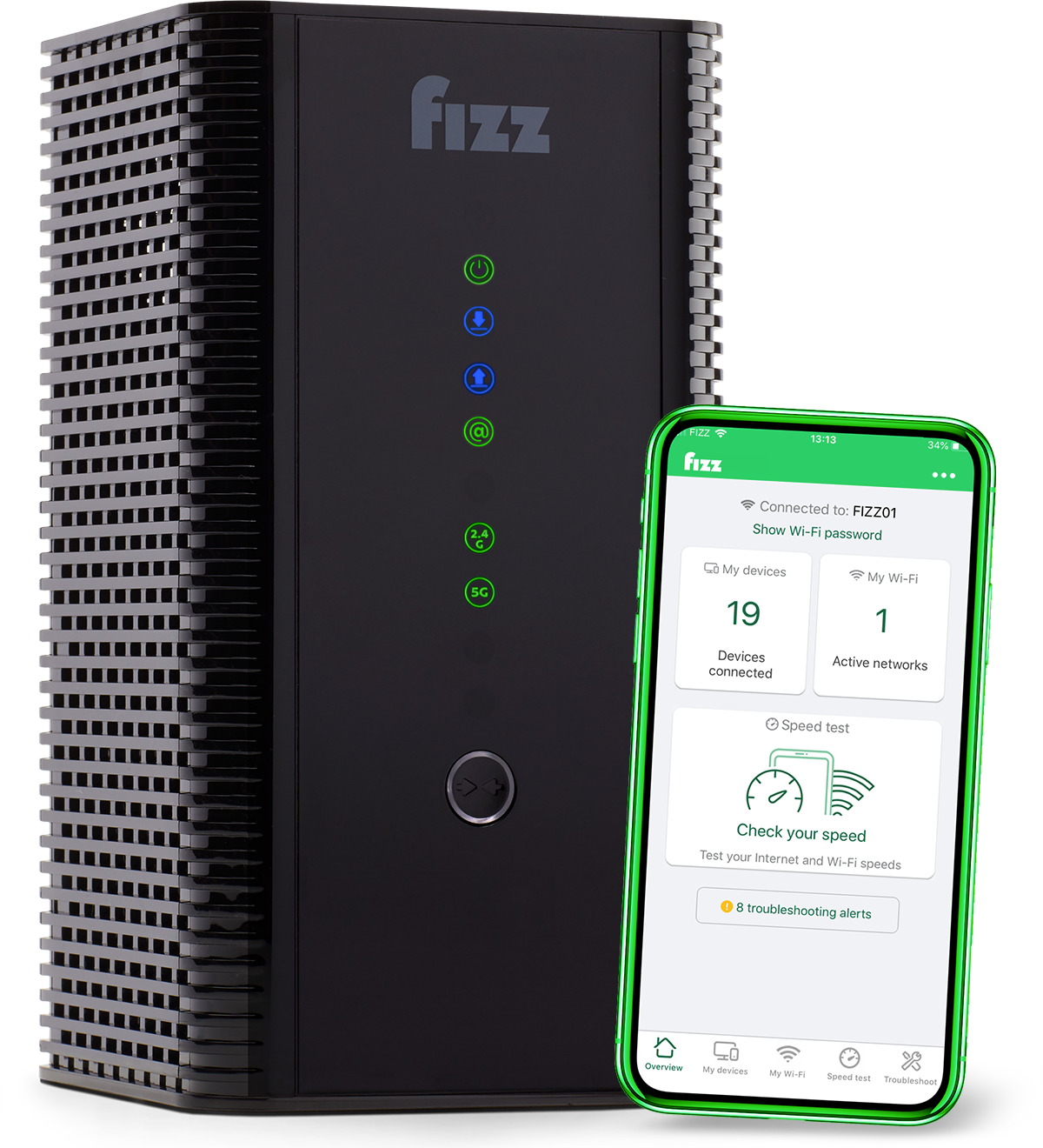 Fizz router modem